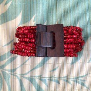 Jewelry - Multi-strand glass bead handmade bracelet